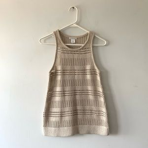 Club Monaco Cotton Silk Blend Knit Sleeveless Top